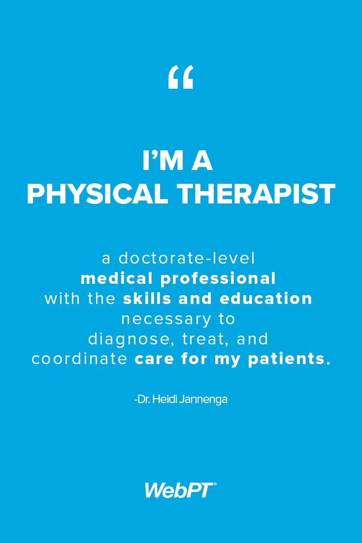 A report on the career option of being a physical therapist