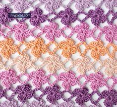 "MyPicot | ""CROCHET FLOWER STITCH"" - May 9th, 2015 | Free crochet patterns. // ♡ YUPYUPYUP...THE LATEST PATTERN, AND JUST SO PRETTY!!! ♥A"