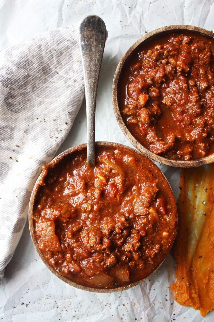 Pumpkin Chili - The pumpkin gives this chili such a rich, silky texture - no beans