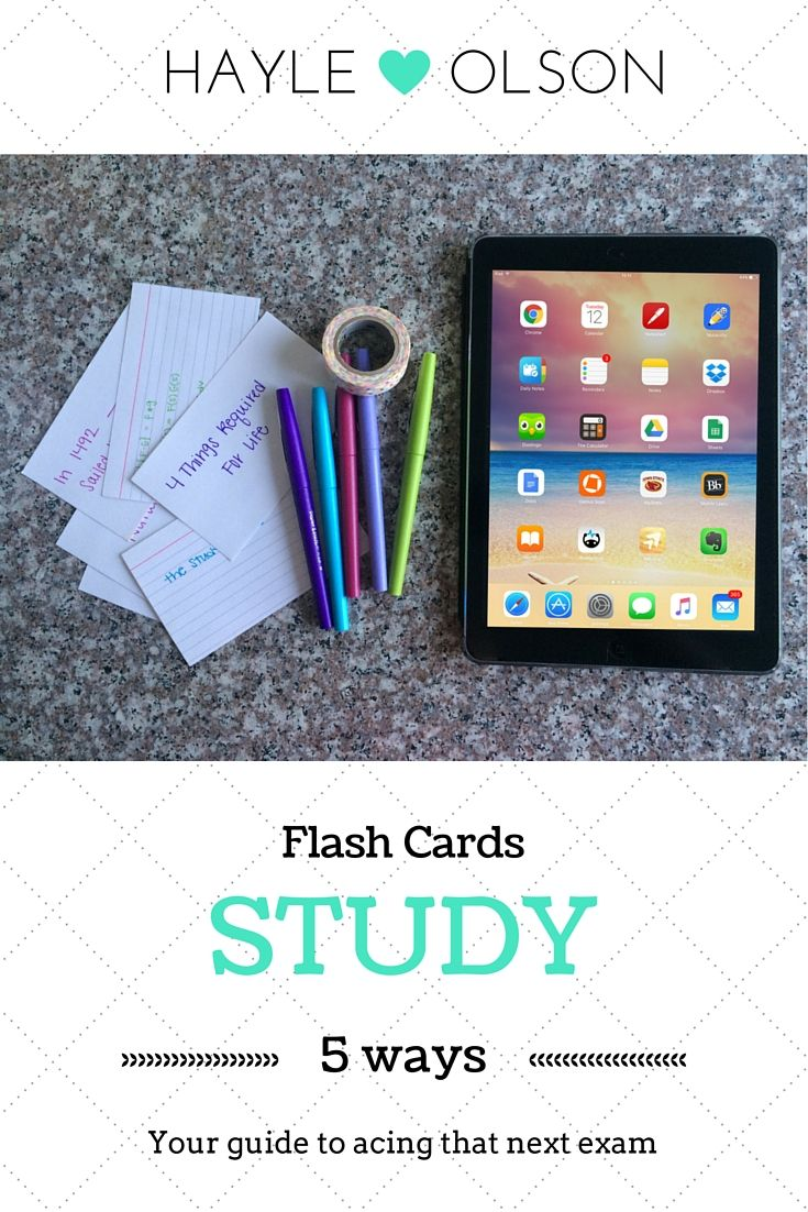Not sure how to study? Here are 5 different ways that you can study with flash cards! Learn to be a pro at studying flash cards!! Click through to read now, or pin to save for later! :) Find my blog at www.hayleolson.com
