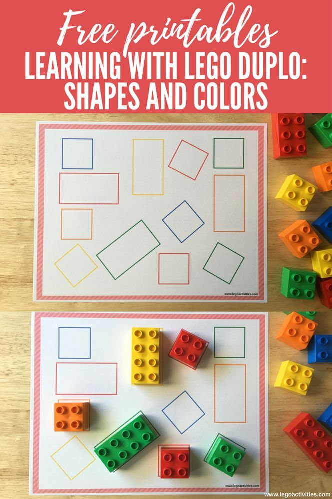 Learning with LEGO DUPLO: Shapes and Colors | Actividad para aprender formas y colores con LEGO DUPLO | http://www.legoactivities.com