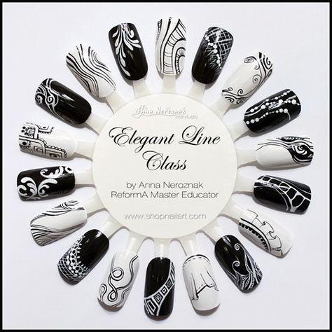 Elegant Line Class by Arinita – Nail Art Gallery nailartgallery.na… by Nails M…