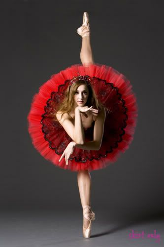 dancers agile - brunette - flowering tutu