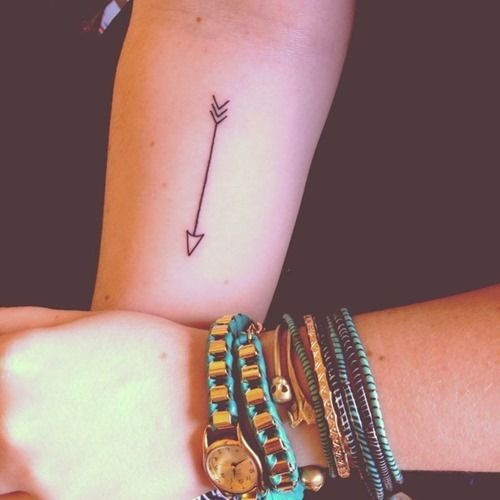 Simple Arrow Tattoo Design for Girls