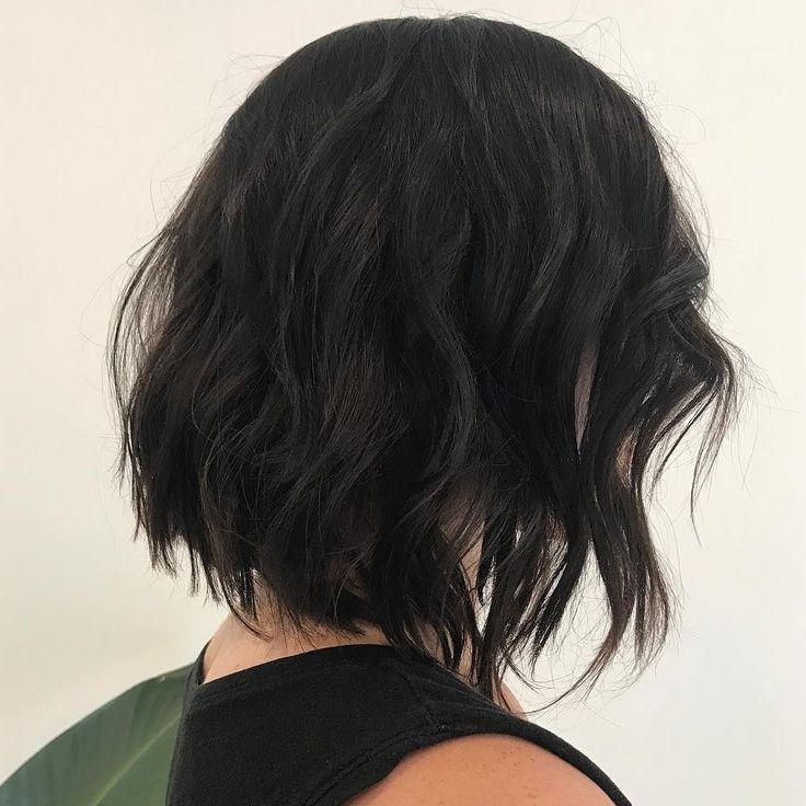 Textured, messy, modern, bob, hairstyle 2018 @dezinehair