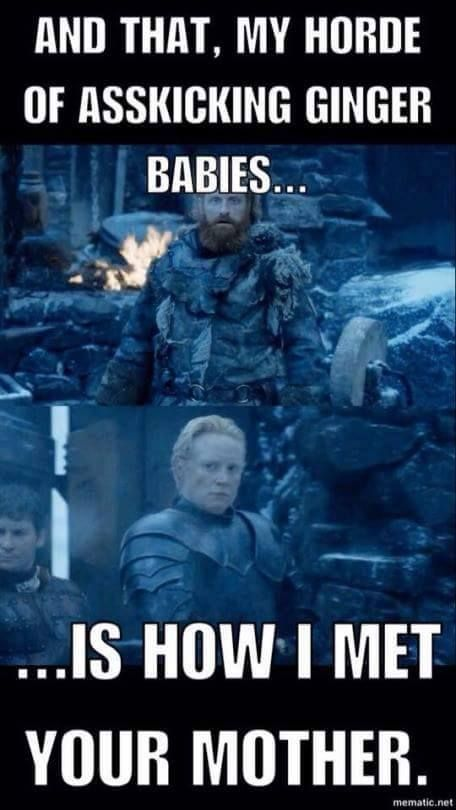 Brienne & Tormund ~ More silliness from Kit Harington's Facebook page :o))
