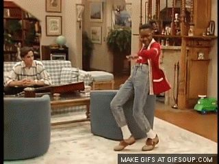 """Like when he danced with Steve Urkel: 
