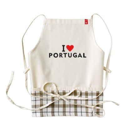 I love Portugal country like heart travel tourism Zazzle HEART Apron - heart gifts love hearts special diy