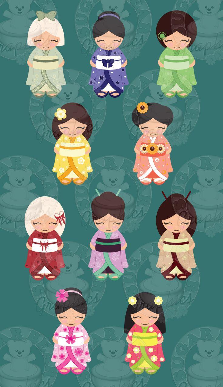 Kokeshi Dolls $10