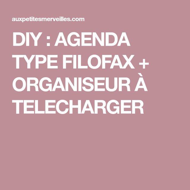 DIY : AGENDA TYPE FILOFAX + ORGANISEUR À TELECHARGER