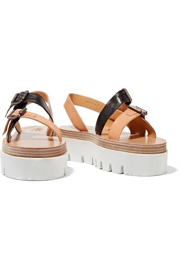 3e0a0da473d MM6 MAISON MARGIELA Leather platform sandals