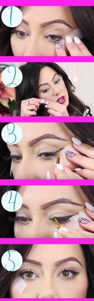 25 Must Know Eyeliner Hacks -One Minute Winged Liner -Winged Looks and Easy Makeup Tricks and Guides for Liquid Pencil and Gel Styles. Step by Step Tutorials with Pictures using Tape or a Spoon thegoddess.com/eyeliner-hacks #wingedlinerlooks #makeuplooksstepbystep #wingedlinermakeup