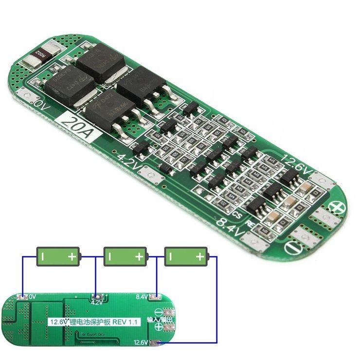 Nueva Llegada 3 S 20A BMS Li-ion Batería De Litio 18650 Cargador de PCB Junta de Protección 12.6 V Celular 64x20x3.4mm Módulo