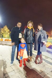 Councillor Pam Damoff with local residents and Superman: Photo Credit: Oakville News