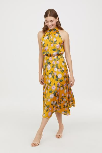 bbc4cd9e63305 Satin Halterneck Dress | My Style | Summer dresses, Dresses, Satin
