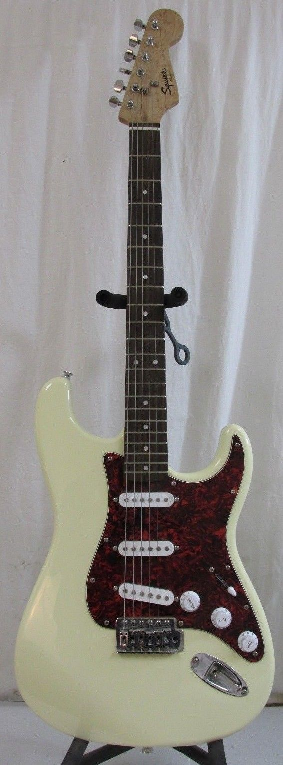 Squier By Fender Bullet Strat Off White Cream Color Electric Guitar 6 String RH