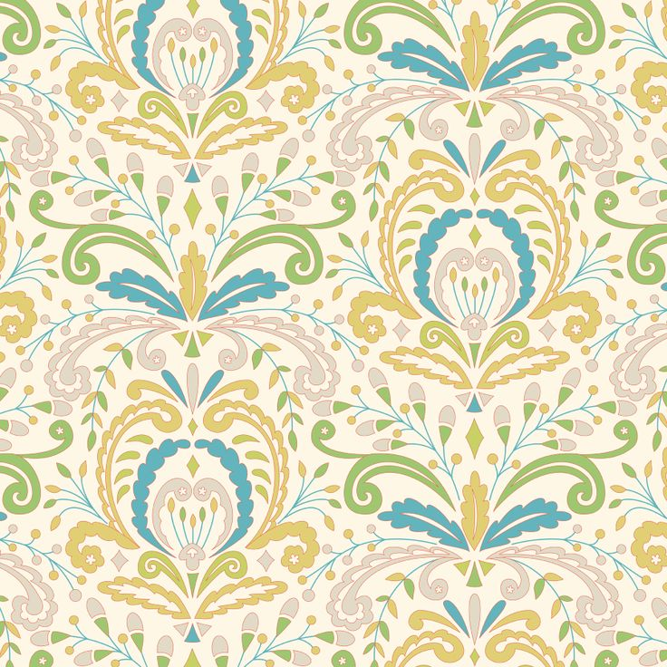 Kumari Garden Collection   Sujata In Blue By Dena™ For Free Spirit Fabrics