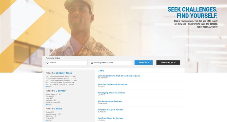 For veterans entering the tech workforce: Simplify your career search with our new military skills translator. Just input your military job title or code and see which roles at Dell are equivalent: https://jobs.dell.com/military And thank you for your service!