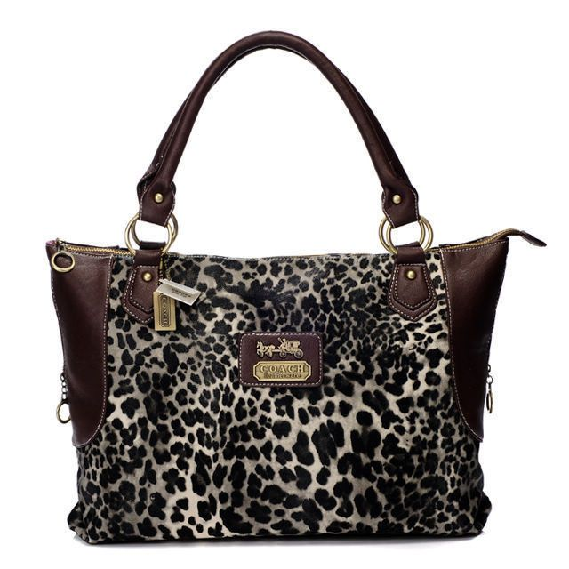 #Coach #Purses Fashionable And Cheap Coach Leopard Fur Large Coffee Totes BAJ Lets Your Life Full Of Laugh And Joy!