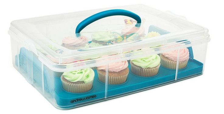 Andrew james cupcake carrier and cake holder 2 tier