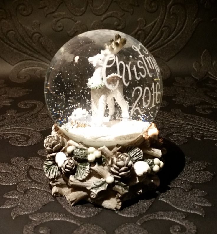 Excited to share the latest addition to my #etsy shop: Personalised Snow Globe   Reindeer Owl Christmas Snow Globe   Mini Snow Globe   Custom Glass Snowglobe   Christmas Gift Ideas   Snow Globe http://etsy.me/2hxKgqH