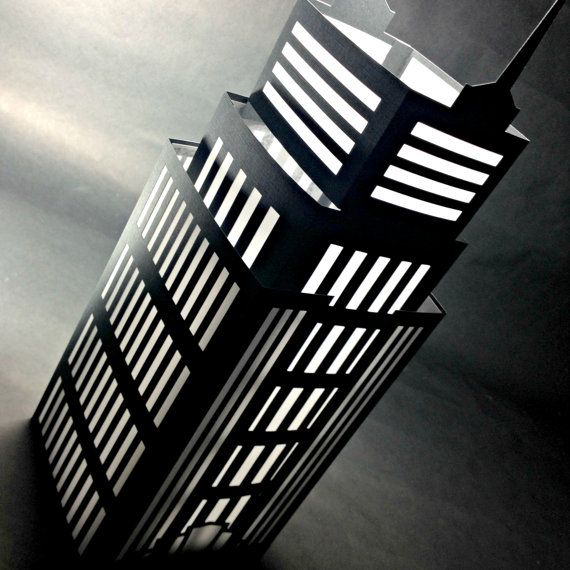 Nyc luminary empire state building cut paper lantern home for New york decorations for the home