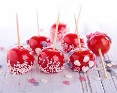 Cake pops cramoisies façon pommes d'amour Ingrédients