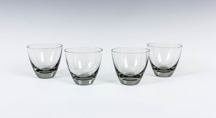 "1-3/4"" Holmegaard Copenhagen Schnapps Glasses - Smoke Shot Glass - Per Lutken Denmark - Danish Modern - Scandinavian Barware - Set of 4 by ThePapers on Etsy"