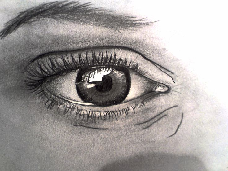 "Life mirror. Drawinf by Gedaj from tutorial ""realistic eye tutorial"""