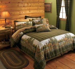 sets decor comforter oak western harbor cabin woolrich p set bedding