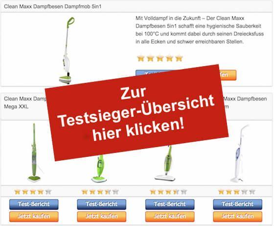 Clean Maxx Dampfbesen - Testsieger-Tabelle - Stoerer
