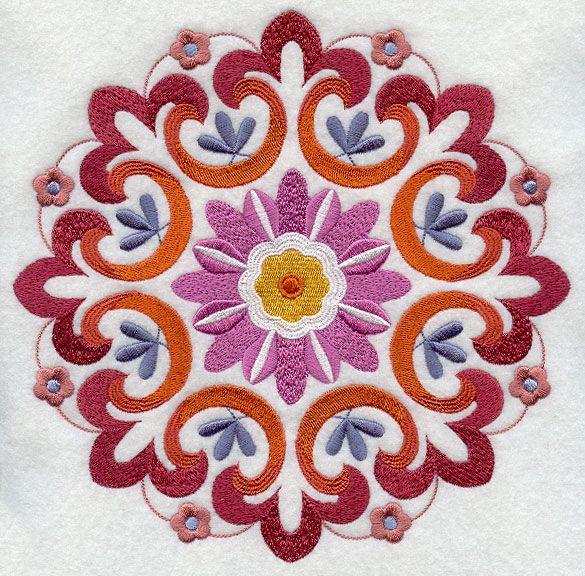Suzani Embroidered Medallion
