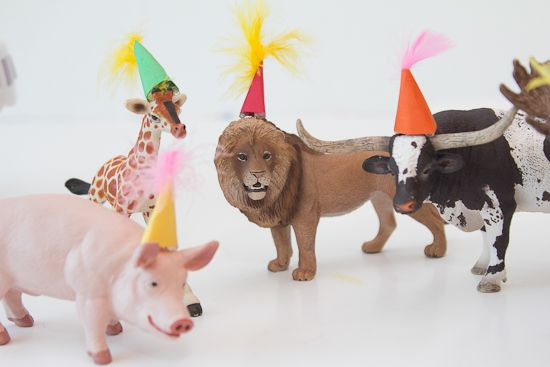 party animal hats / papery & cakery Cute party favor