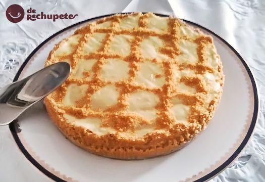 TARTA DE LIMÓN SIN HORNO. Postre ideal con un crujiente de masa de galletas y un gusto ácido pero controlado del azúcar. Apta para celíacos y super fácil de hacer, ¿se puede pedir más
