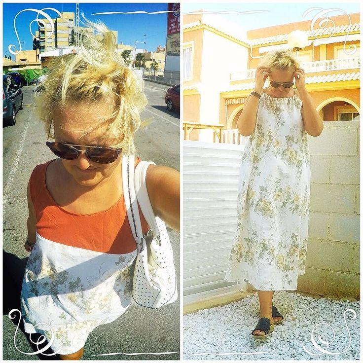Same #fabric 2 #dresses http://ift.tt/2fvVnj1 made of #recycledmaterial #recycle #recycled #reciclaje #reciclajecreativo #reciclajeconestilo #hechoamano #handmade #sewing #coser #style #moda #fashion #summer #sundress #midiseño #mydesign #sustainable #sustainableliving #sustanible #sustaniblefashion #vhga #granalacant #santapola #vestido #ethicalfashion #reusedmaterial #reuse