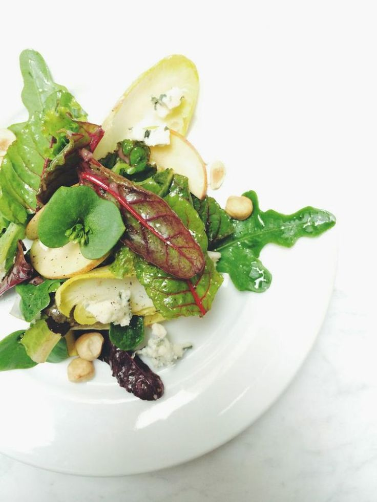 ... : Autumn Salad with Endive, Roquefort, Apples and Toasted Hazelnuts