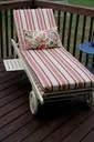 Painted chaise, newly made cushion and pillow