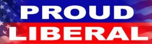 Proud Liberal party Quality Cool New Car BUMPER STICKER STI-0157