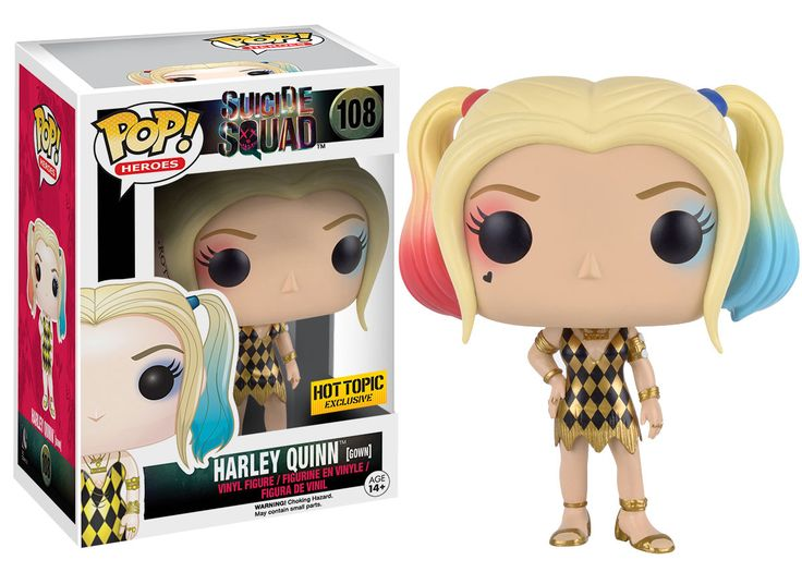 Funko Pop! Suicide Squad Hot Topic Exclusive Harley Quinn gown #108 need this one & Dr Harleen Quinzel
