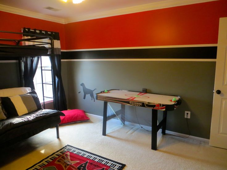 Best 25 gray red bedroom ideas on pinterest red bedroom - Red black and grey bedroom ideas ...