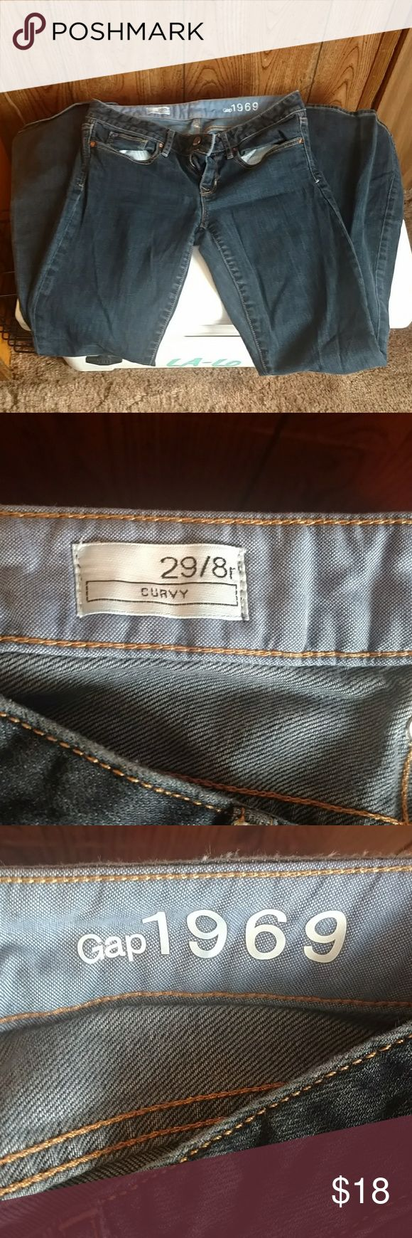 Gap jeans Dark blue GAP jeans. Curvy profile GAP Jeans