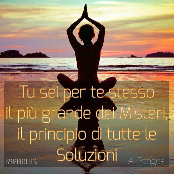 La spiritualità  è la ricerca di noi dentro noi, è la ricerca del vero Essere, della Verità. Nessuno può spiegarti chi sei, devi scoprirti da solo.   La ricerca è dentro, non fuori, il risveglio è interiore, mai guidato dall'esterno. Ciò che senti è più importante di ciò che ascolti.  Quando comprendi chi sei tutto ciò che ancora definisci problema si risolve. La Soluzione interiore permette alla soluzione esteriore di manifestarsi.  Novità in arrivo sul blog domani  Buona Vita