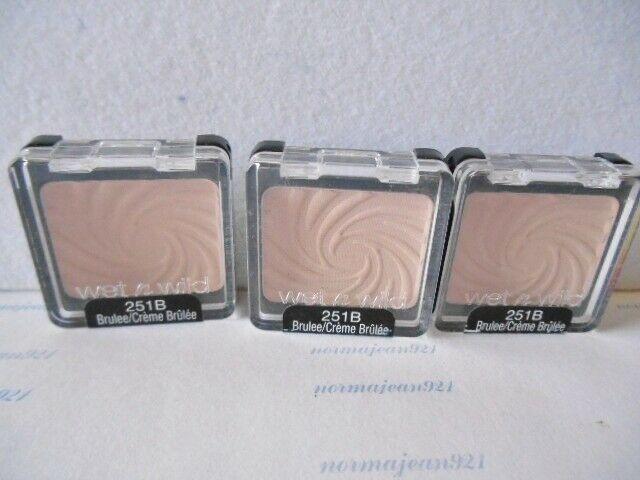 Lot Of 3 Wet N Wild Coloricon Eye Shadow Singles 251b Brulee Wetnwild Wet N Wild Eyeshadow Cream Concealer