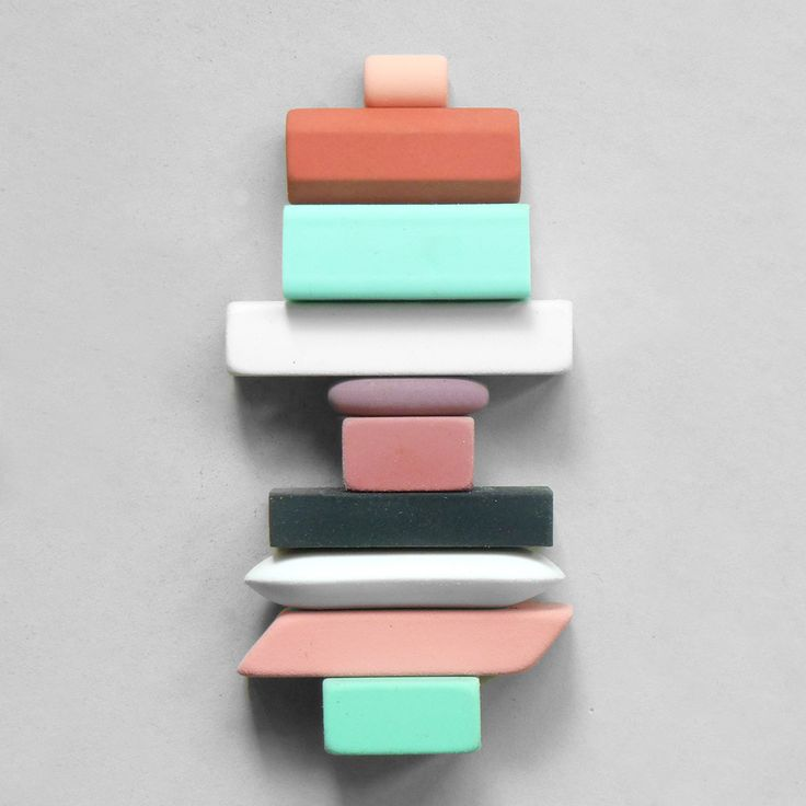 Composition 39: Eraser Totem.