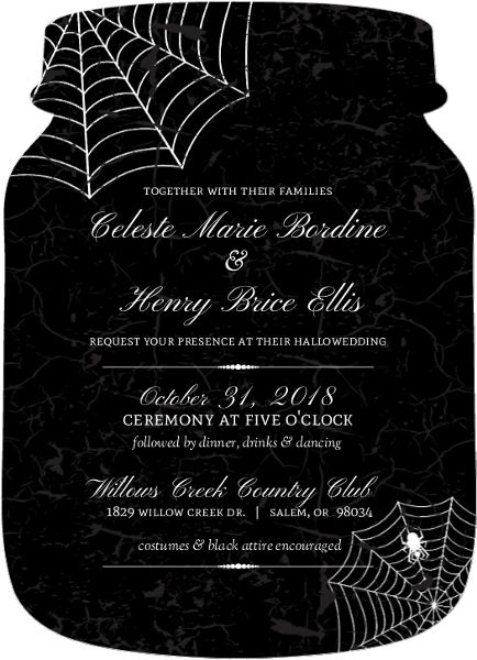 19 best glamoween glam halloween party ideas and inspiration all of our halloween wedding invitations design templates are fully customizable stopboris Gallery