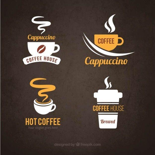 Logotipos do café Vetor grátis