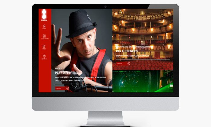 Diseño web de pagina musical para artista y percusionista. http://www.basicum.es/portfolio-item/diseno-web-musicos-bulbul/
