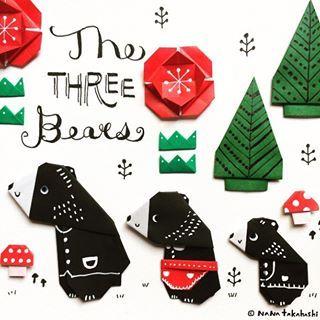 森のくまさんが話題になってるみたいやけど、、、。 三びきのくまさん(*^^*) #papercraft #illustration #paperflowers #mashroom #origami #bear #thethreebears #tree #おりがみ #おはな #くま #森のくまさん #三びきのくま #ペーパークラフト #イラスト #絵本