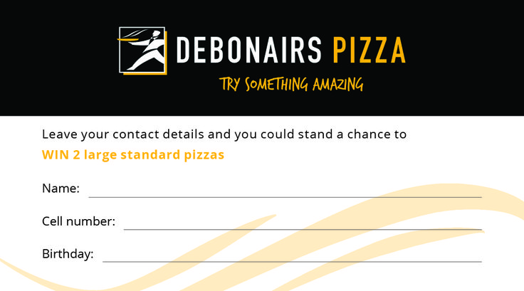 Debonairs New Contact Card