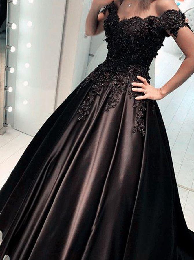 f085ea2eb3c Black Prom Dress Elegant